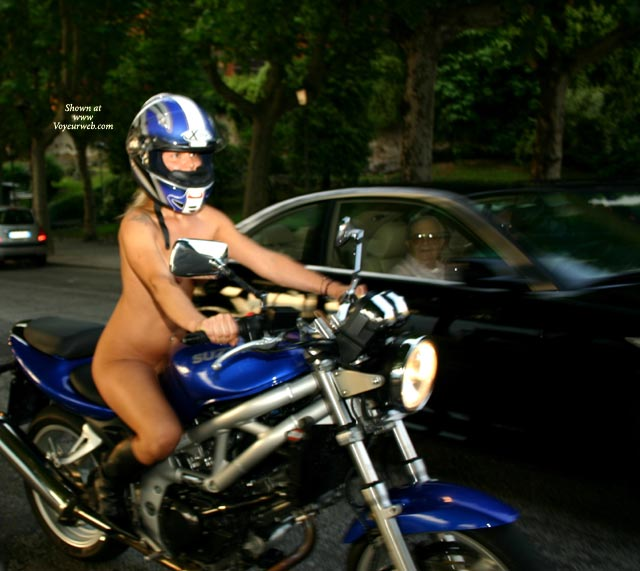 Motorcycle woman naked photos opinion