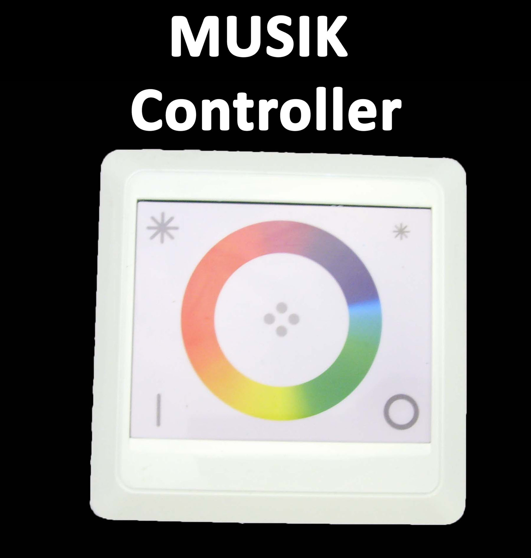 musik akustik touch wand einbau rgb led 12v 8a 96w controller steuerung dimmer ebay. Black Bedroom Furniture Sets. Home Design Ideas