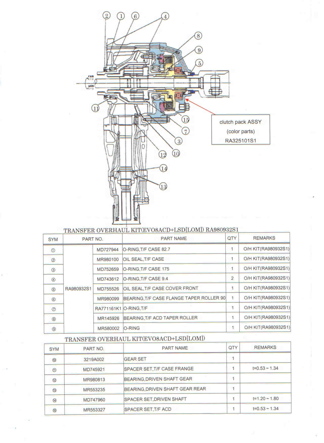 Mitsubishi Transfer Case Diagram Trusted Schematics 2004 Endeavor Limited Wiring Transfercase Bearings Evolutionm Lancer And Exploded View