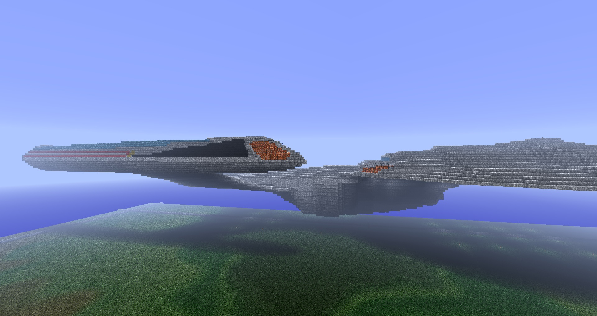 how to build the enterprise in minecraft