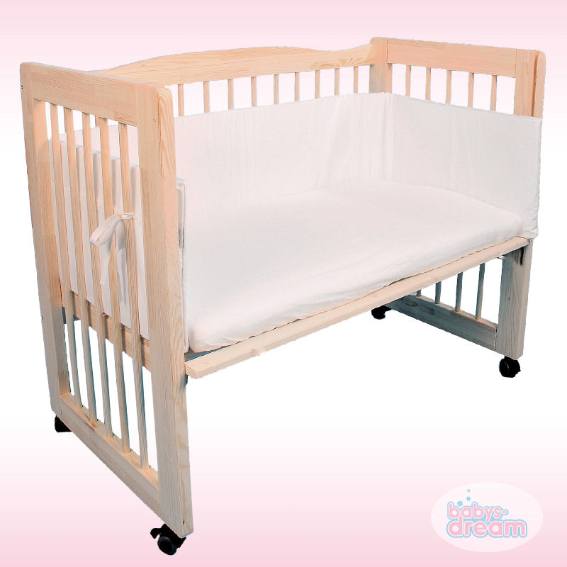 3in1 beistellbett babybett 100x50 cm komplettset babys dream leon ebay. Black Bedroom Furniture Sets. Home Design Ideas