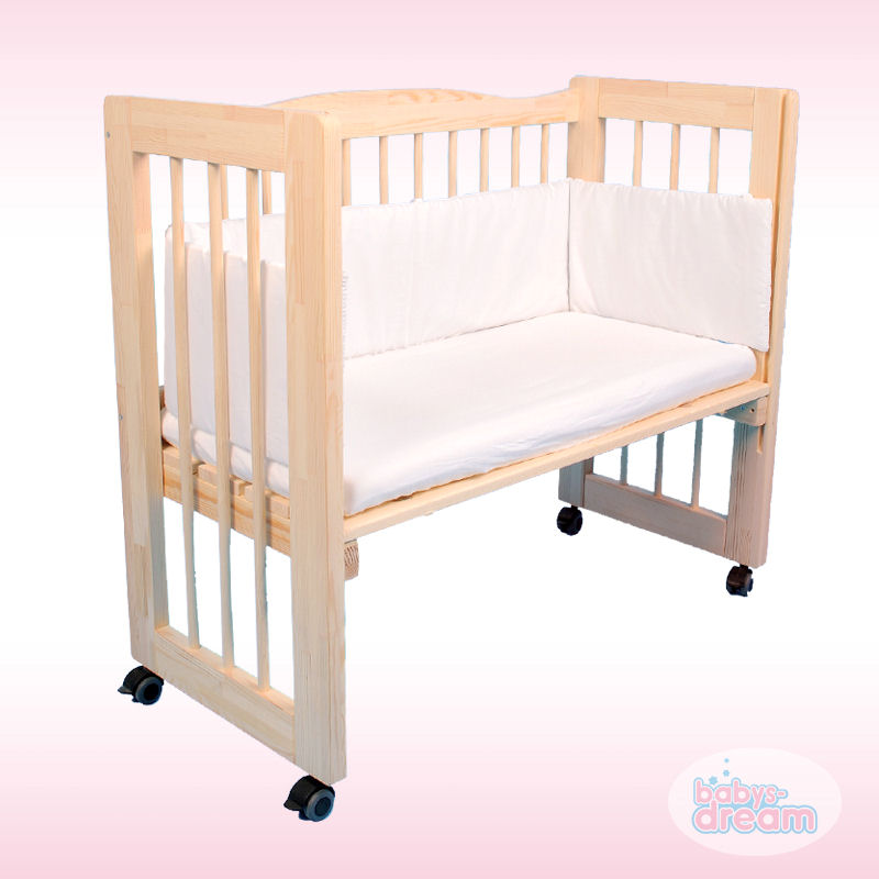 3in1 beistellbett babybett jamie naturholz babys dream 90x40cm komplettset ebay. Black Bedroom Furniture Sets. Home Design Ideas