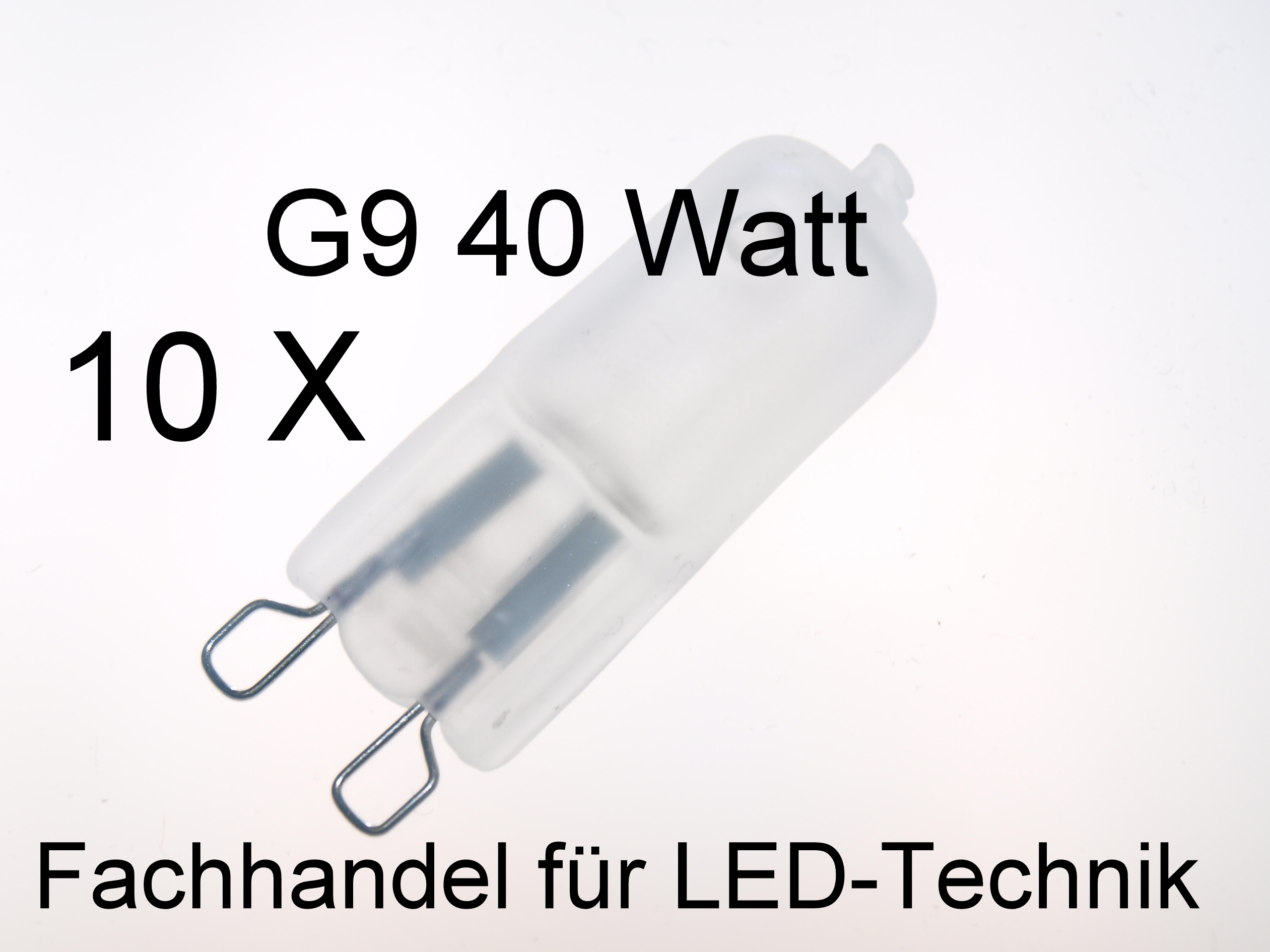 10er set halogen lampe leuchtmittel 230v g9 40w matt ebay. Black Bedroom Furniture Sets. Home Design Ideas