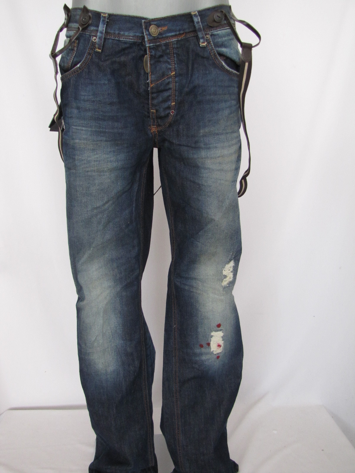 antony morato mp2266 hosentr ger herren jeans blau w38 ebay. Black Bedroom Furniture Sets. Home Design Ideas