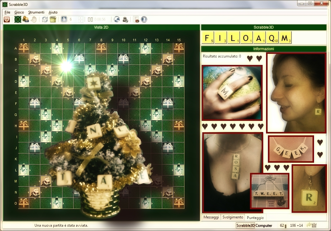 Scrabble jewelry and Christmas tree decoration