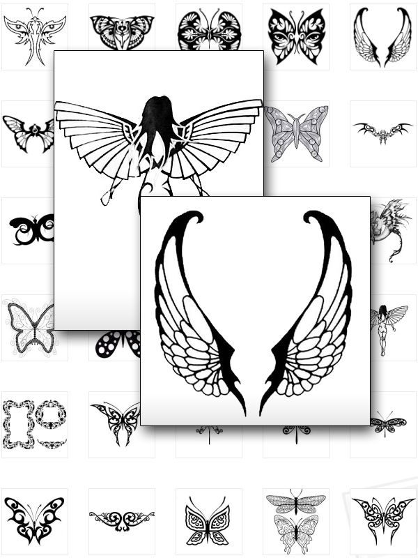 SCHMETTERLINGE TATTOOS Tattoo TRIBAL BUTTERFLIES Vorlagen ...