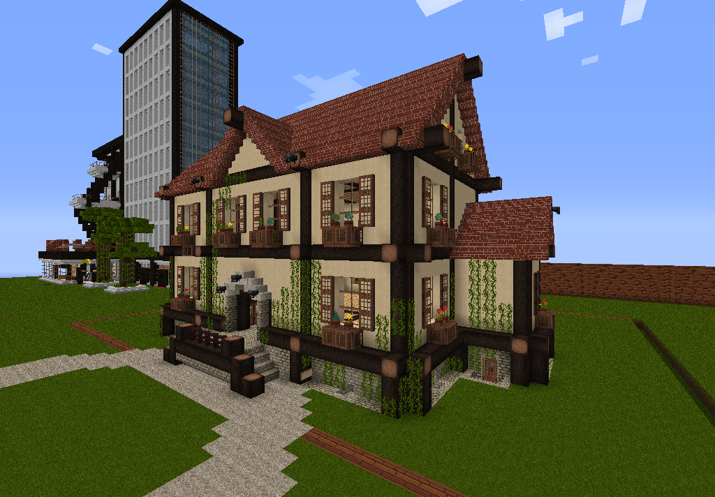 1000 images about minecraft haus kunst on pinterest. Black Bedroom Furniture Sets. Home Design Ideas