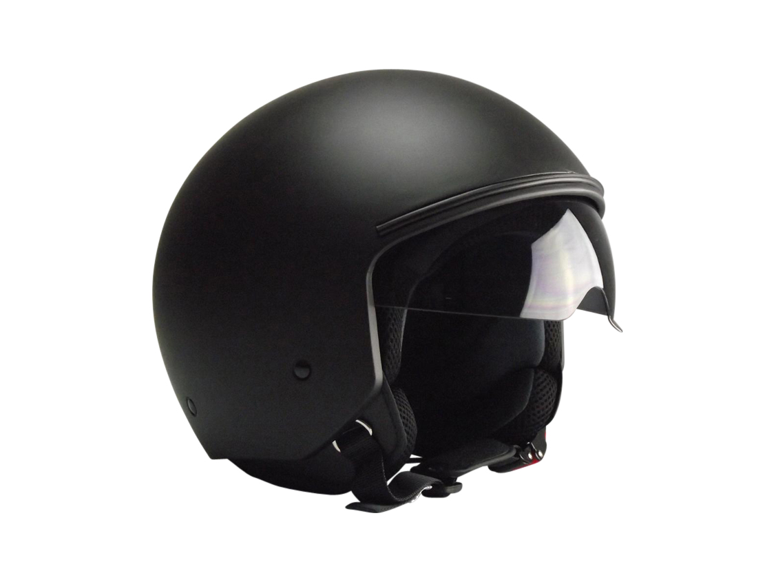 jethelm helm motorradhelm rollerhelm matt schwarz get ntes. Black Bedroom Furniture Sets. Home Design Ideas