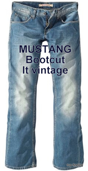 mustang bootcut herren jeans w30 31 32 33 34 l32 34 neu ebay. Black Bedroom Furniture Sets. Home Design Ideas