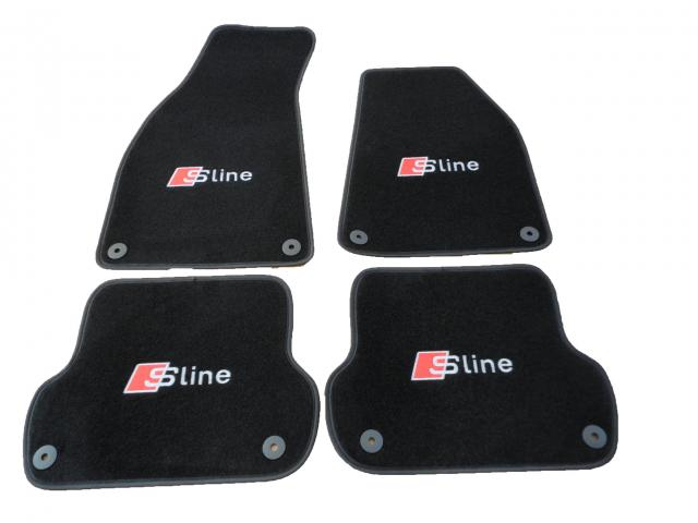 audi a4 s line premium car mats with s line logo b6 b7. Black Bedroom Furniture Sets. Home Design Ideas